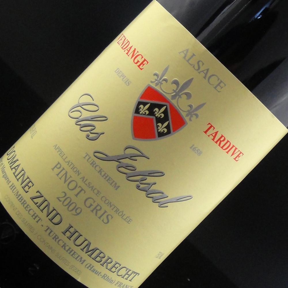 Zind Humbrecht - Clos Jebsal Pinot Gris Vendanges Tardives 2009