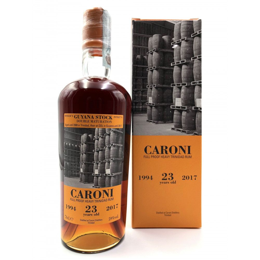 Rum Caroni Guyana 23 years old Full Proof Heavy 1994, 59°