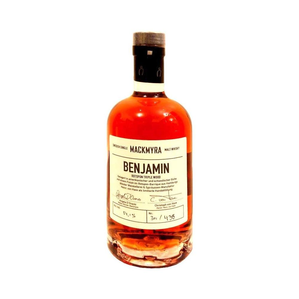 Whisky Mackmyra Rotspon Triple Wood Benjamin 2015, 50cl