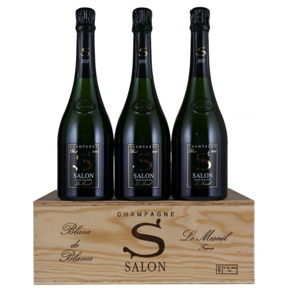 Champagne Salon Cuvée S Le Mesnil Blanc de Blancs Brut millésimé 2002, 3 x 75cl OWC