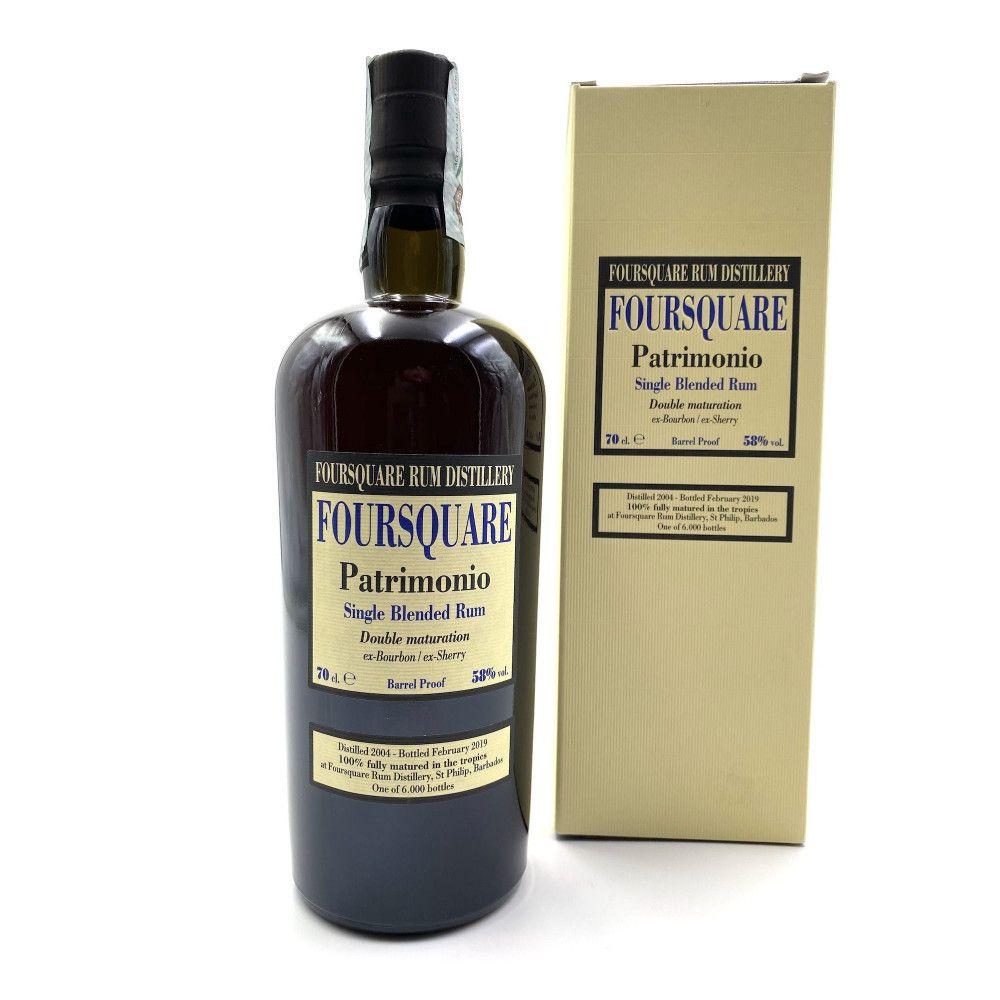 Rum Foursquare Patrimonio, Single Blended Rum 58°