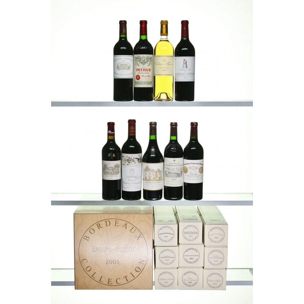 Assortiment Duclot Bordeaux Prestige 2005, 9 x 75cl